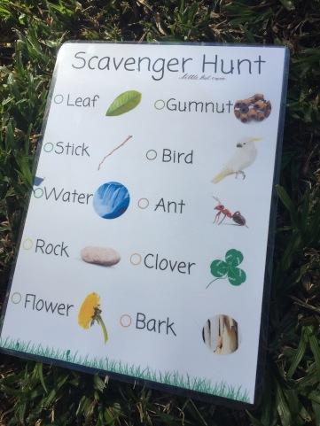 Aussie Scavenger Hunt