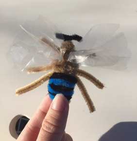 """Pipe cleaner """"Blue banded bee"""""""